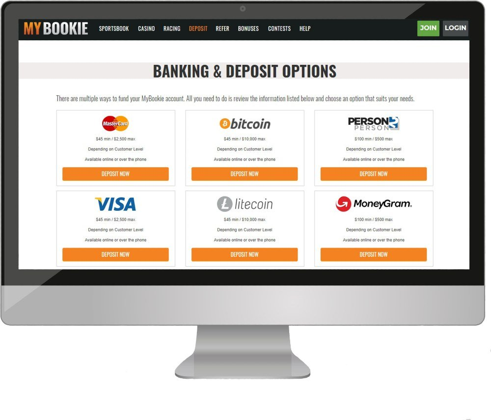 Computuer with Mybookie Banking options