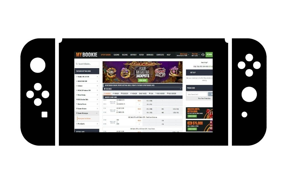 Black joystick mybookie.ag game selection