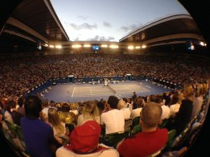 Fan during austrilian open in Melbourne Park Australia