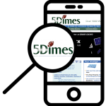 Zoom in at 5Dimes mobile phone