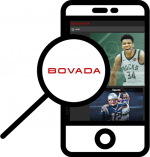Zoom in at Bovada mobile phone